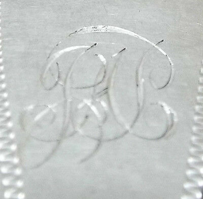 Hanoverian Dessert Fork Solid Sterling Silver Engraved Bright Cut Chawner 1851