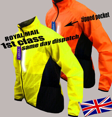 Cycling Jacket Highly Visibile Hi Viz Windproof Waterproof Breathable Riding Cy