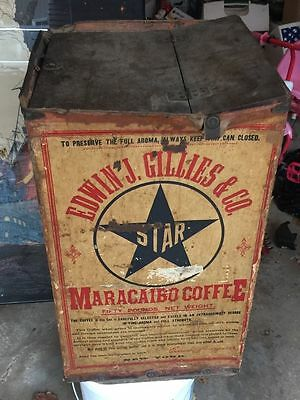 Edwin Gillies New York - Antique Coffee Shipping Store Bin Container