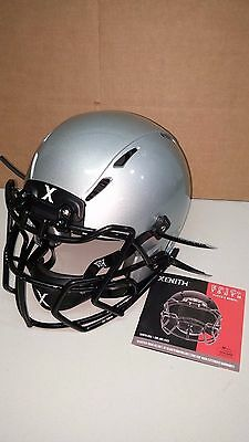Xenith Epic+ Youth Football Helmet-Medium, Metallic Silver w/choice of mask