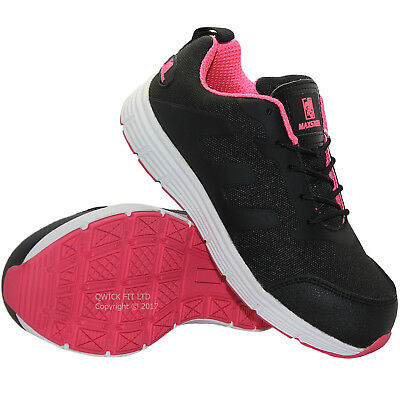 New Womens Leather Lightweight Safety Steel Toe Cap Work Trainers Shoes Uk Size