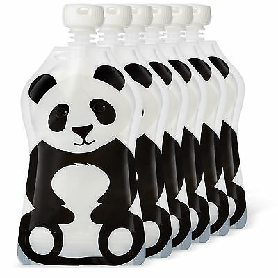 Squooshi 4.5 ounce Reusable Pouches Panda 6 Pack |  FINAL MARKDOWN - CLOSEOUT !