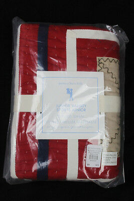 Pottery Barn Kids Junior Varsity Quilted European Square Euro Sham Sports NEW L1