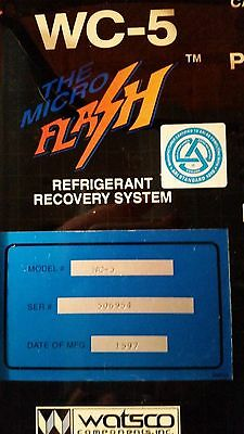 WC-5 The Micro Flash Refrigerant Recovery