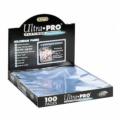 500 ULTRA PRO PLATINUM 1-POCKET Pages 8 1/2 x 11 Sheets Brand New in Box