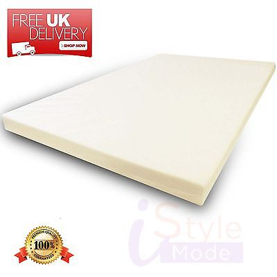 Mattress Orthopaedic Memory Foam Toppers All Sizes And Depth 4CM + Free Cover