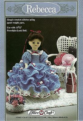 "Vintage Rebecca Dress For 11 1/2"" Doll Crochet Pattern"