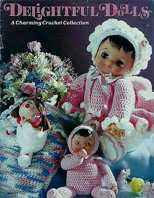 Vintage Delightful Dolls Crochet Booklet - 14 Doll Designs