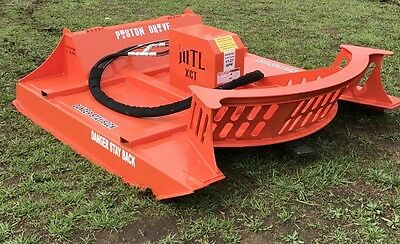 "80"" MTL-XCT 3-Blade-Piston Drive-Carbide Tooth-Mulching Teeth Cutter Skid Steer"