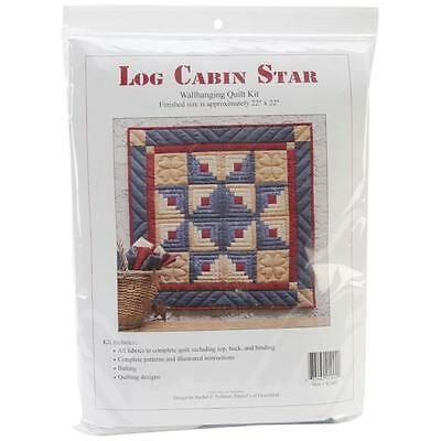 "RACHEL'S OF GREENFIELD ""LOG CABIN STAR WALL QUILT KIT"" - FINISHED SIZE 22"" x 22"""