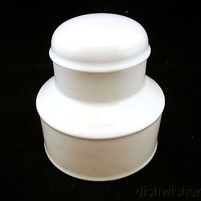 "Midwinter STONEHENGE WHITE Sugar Bowl & Lid 4 1/2"" x 6"" CRAZED"