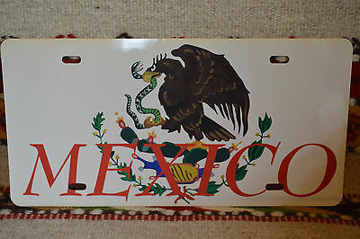Mexican Flag Plastic License Plate ~ Placa Plástico Bandera Mexicana