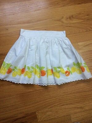 janie and jack Toddler Girl White Pull On Skirt, size 4