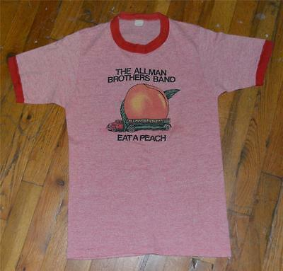 RaRe *1973 ALLMAN BROTHERS BAND* vintage rock concert tour t-shirt (M) 70s Band