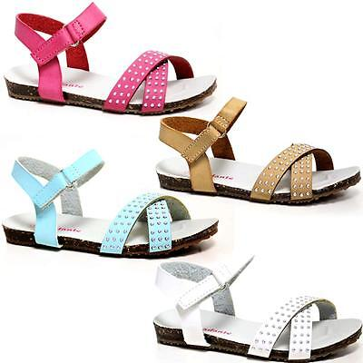 New Girls Fancy Strappy Spanish Gladiator Sandals Summer Beach Party Shoes Size