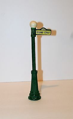 Rare Vintage 1976 Sesame Street Street Lamp Post / Sign by Gorham