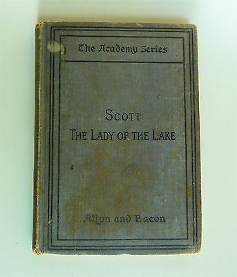 The Lady of the Lake by Sir Walter Scott Vintage Antique Hardcover Book 1899