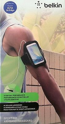 Belkin Sport-Fit Armband Adjustable Strap for Samsung Galaxy S5/S6/S6 Edge Black
