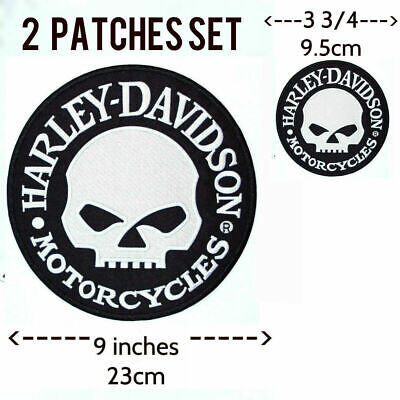 EXTRA LARGE Harley Davidson Willie G Skull Patch (back emblem, reflective)