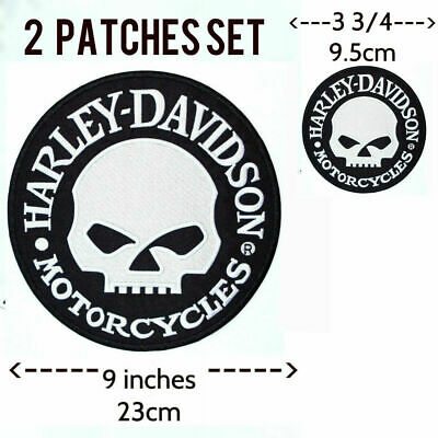 Harley Davidson Willie G Skull Patch (back emblem, reflective)