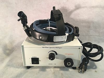 150 Watt Quartz Halogen Model I-150 Fiber Optic Light Source w/ Headlight