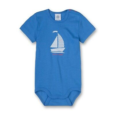 Sanetta Boys Baby Body Suit Short Sleeved Sailing Boat Sz. 56,62,68,74,80,86,92