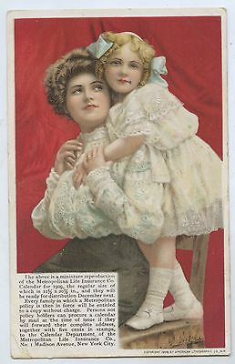 C.1908 Litho Advertising Postcard Metro Life Insurance Co New York Usa  D74.