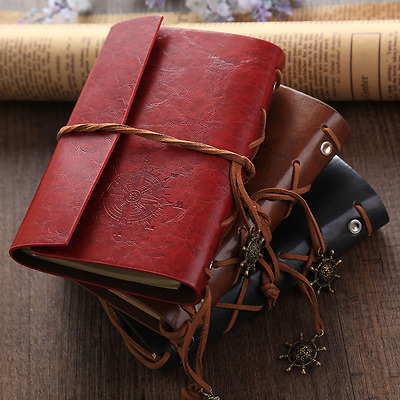 Pirate Compass Leather Handmade Memo Notebook Paper Notepad Diary Hot