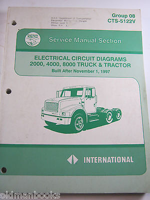 International 2000 4000 8000 Electrical Circuit Diagrams Cts-5122V Truck Manual