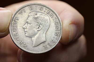 1944 Great Britain 1/2 Crown Silver  (814)