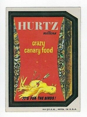 1973 Topps Wacky Packages 3rd Series 3 HURTZ CANARY FOOD tb ex