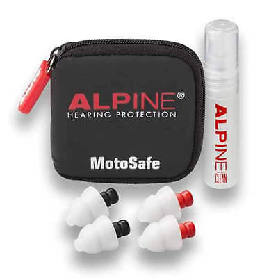 Alpine MotoSafe Pro Multi Pack Moulded Ear Plugs 20SNR Track Tour Commute Street