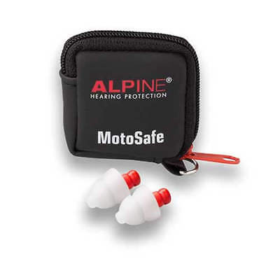 Alpine MotoSafe Race Moulded Ear Plugs 20SNR Motorcycle Track Street Tour