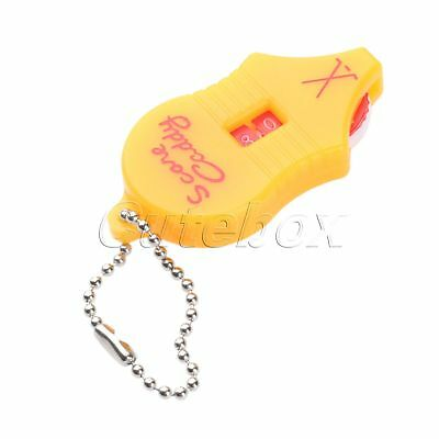 1× Golf Stroke Shot Putt Score Counter with Key Chain Scoring Keeper Pocket Tool