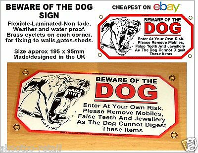 Beware Of Dog Sign-Cheapest On Ebay