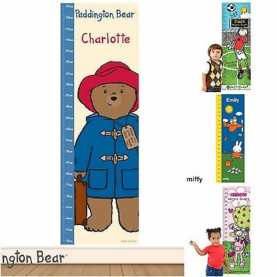 Personalised Children's Childs Kids Wall Height Measuring Chart for Boys Girls
