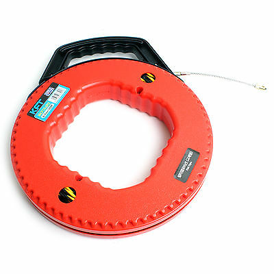 Portable Case Electricians Fish Tape Wire Cable Puller 6.5mm 20M