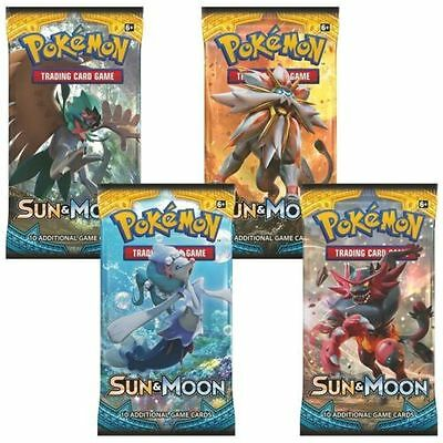 Pokemon Cards TCG  SUN & MOON 4 x Booster Packs  - New And Sealed Rare