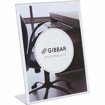 [6 Pack] Gibbar 8.5 x 11 Inches Slant Back Thick Clear Sign Holder Ad Frame