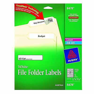 Avery File Folder Labels for Laser and Inkjet Printers, 0.66 x 3.43 Inches, Pack
