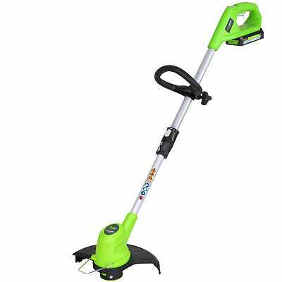 Greenworks G24LT 24v Cordless Grass Trimmer 300mm 1 x 2ah Li-ion