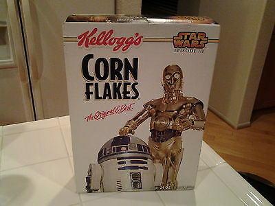 Star Wars Kellogg's Corn Flakes Episode lll 24 oz Cereal Box