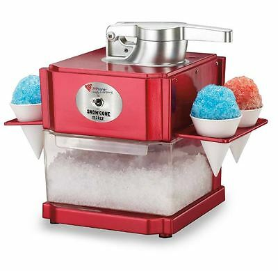 Snow Cone Maker Machine Slushie Grinder 10 Ice Cubes to Snow In 1 Minute NEW