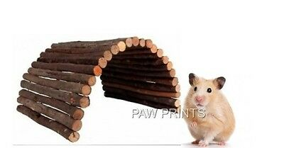Natural Wood & Bark Bendy Ladder Hamster House Hide Bed Chew Toy 22 X 10Cm 62151