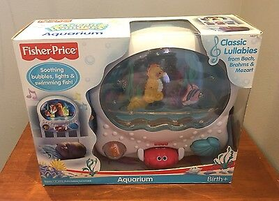 Fisher Price Ocean Wonders Aquarium Musical Light Up Mobile Crib Soother Toy NEW