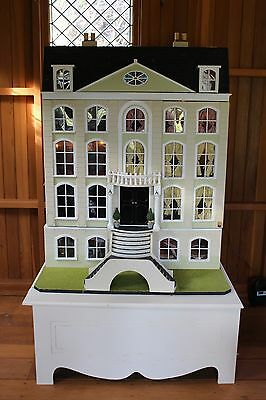 Beautiful, Large, Vintage, Georgian Style Doll's House. Fully Furnished and Lit.