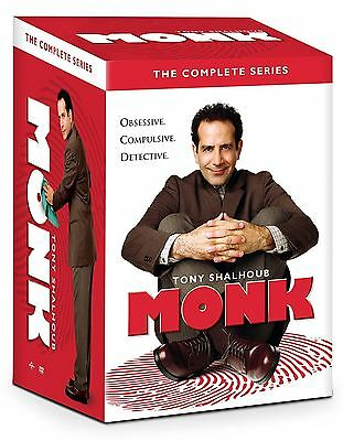 Monk:The Complete Series Collection (DVD, 2016, 32-Disc Set)