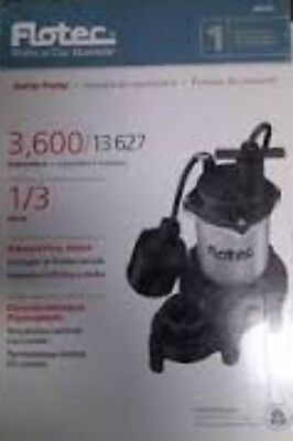 Brand New Flotec FPZS33T 1/3 HP Submersible Sump Pump