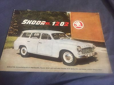 1950s Skoda 1202 Original Color  Brochure Prospekt
