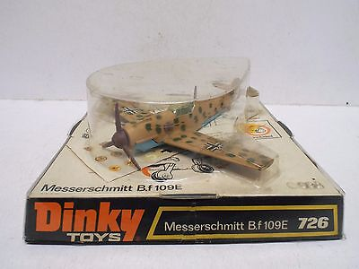Dinky 726 Messerschmitt B.f 109E Plane Near Mint Boxed 100% All Original (D302)
